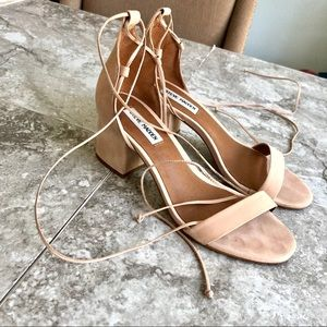 Steve Madden Ivori blush nubuck block heels